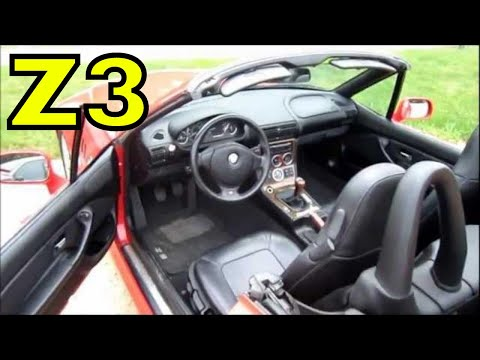 2000 BMW Z3 ROADSTER CONVERTIBLE, START UP, walk around ...