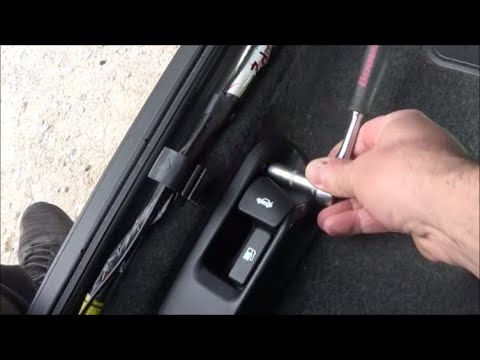 2007-2013 Toyota Corolla How to replace trunk latch release cable (luggage cable) Ντίζα πορτ μπαγκάζ