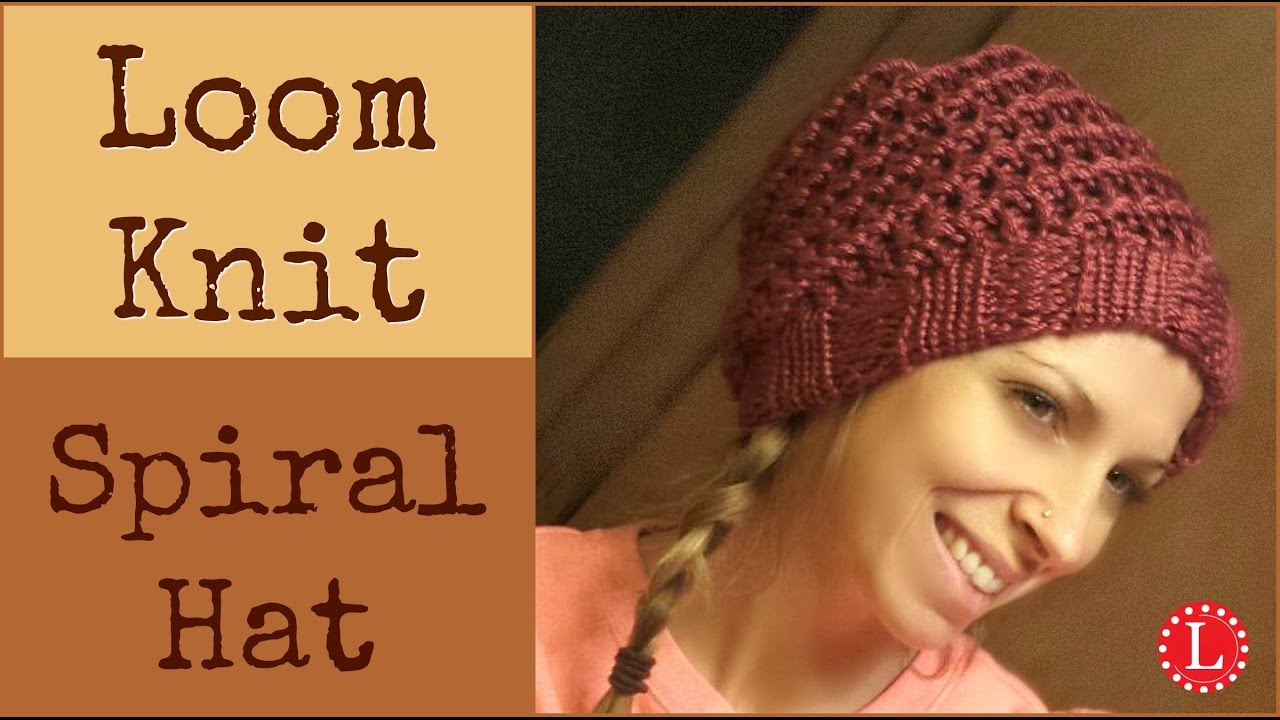 Simple Hat Knitting Pattern In The Round : Loom Knit Hat - How to Make Super Easy Spiral Hats with Step by Step for Begi...