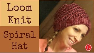 Loom Knit Hat - Easy Spiral Hats Step by Step for Beginners | Loomahat