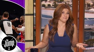 Rachel Nichols recaps Lakers vs Rockets brawl featuring CP3, Rondo, Ingram & more | The Jump