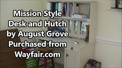 mission style desk and hutch by august grove review