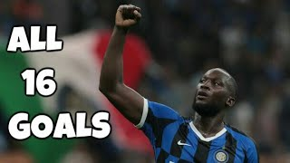 Romelu Lukaku All 16 Goals for Inter Milan 201920