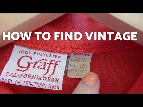 HOW TO FIND VINTAGE CLOTHING AT THE THRIFT STORE