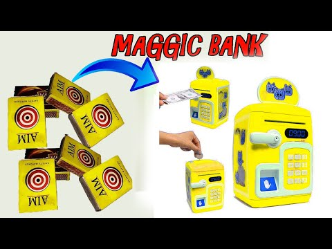 Coin bank, how to make money bank at home, best out of waste,