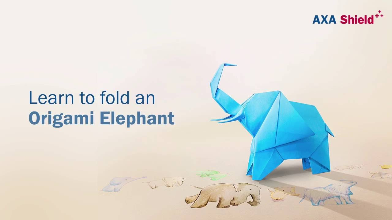 How to make a Paper Elephant: Easy Origami Elephant Instructions | 720x1280