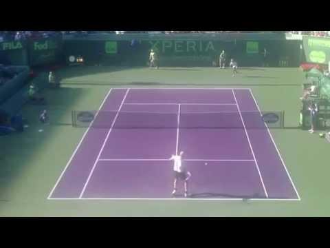 Isner Vs Davydenko at the Sony Ericsson Open 2012