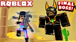 I UNLOCKED THE SACRED SANDS DUNGEON AND TOOK DOWN ANUBIS IN THE DESERT! (Roblox Treasure Quest)