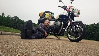 Triumph Bonneville 19 728km Solo Female Motorcycle Adventure - Riding Across America (Garmin Virb)