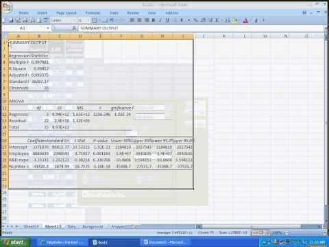 How To Do Step Wise Regression In Excel   By Dr Berg