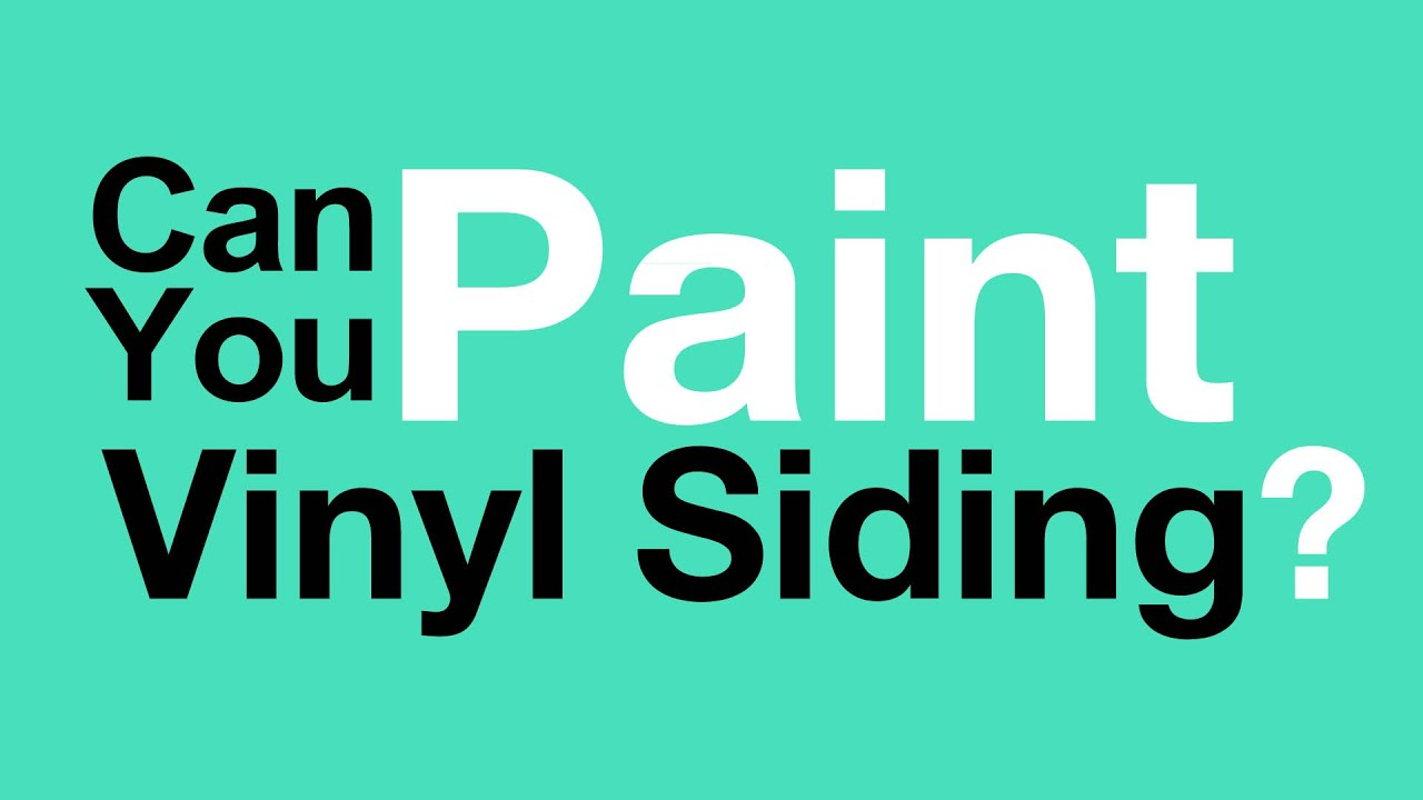 Can You Paint Vinyl Siding? - YouTube