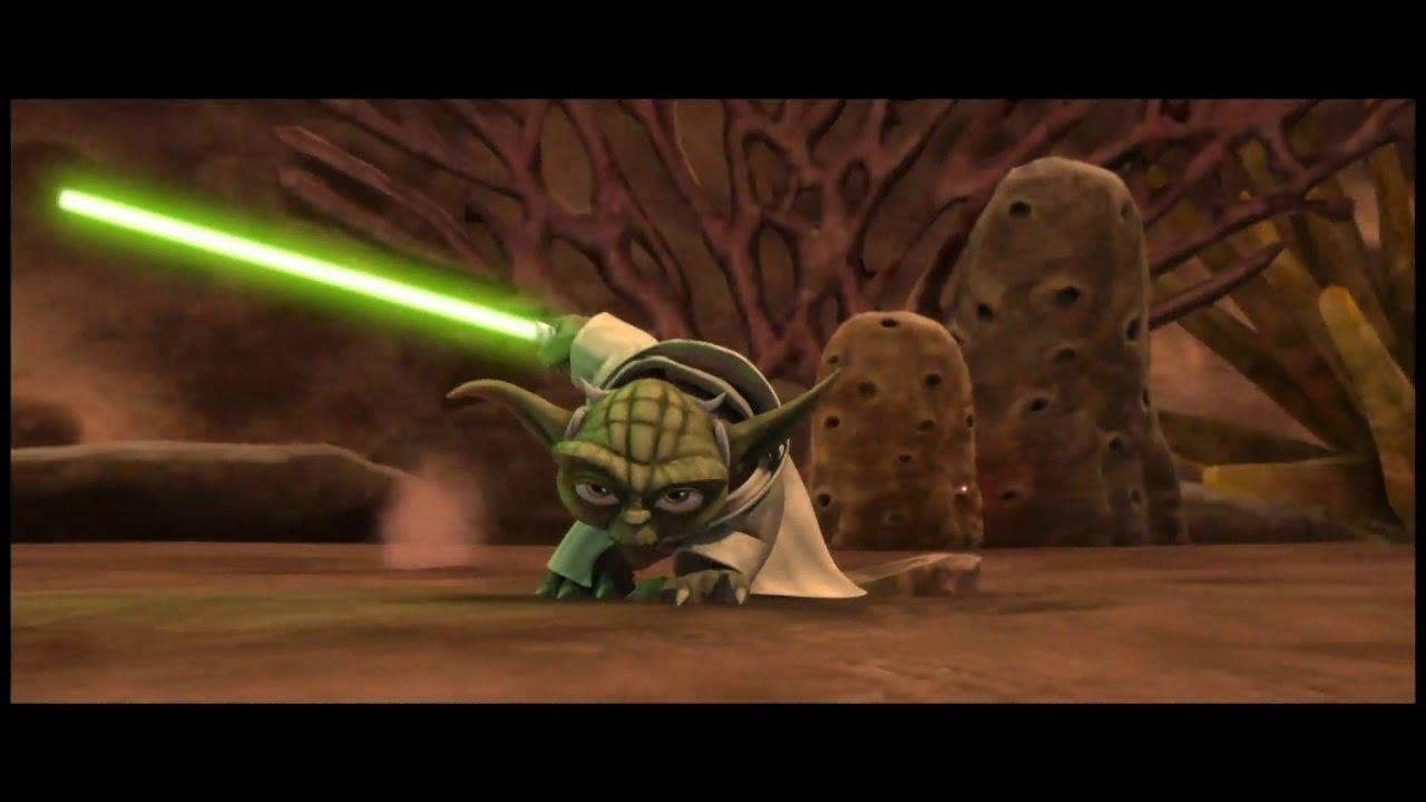 star wars the clone wars yoda takes down an entire droid fleet