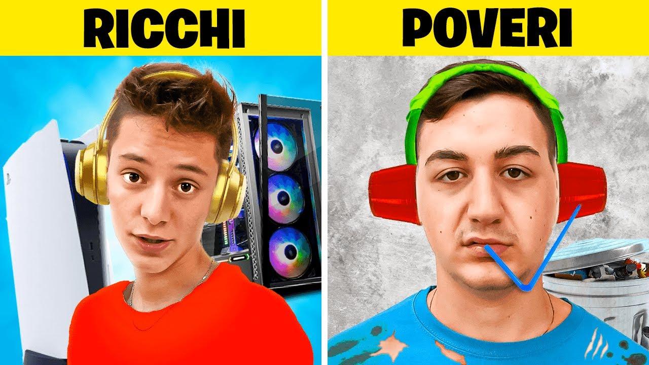 Download GAMER RICCHI VS POVERI 🎮 Le Differenze su Cap e Kazu