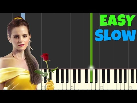 The Beauty And The Beast [SLOW Easy Piano Tutorial] (Synthesia/Sheet Music)