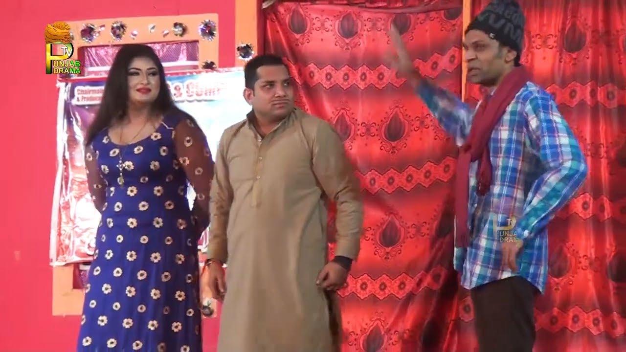 Nafees Zaman and Hussna Bhatti   Nazir Jani Stage Drama Nasha Sajna Da   New Stage Drama 2021