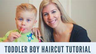 HOW TO CUT BOYS HAIR AT HOME! | Easy Boy Haircut with Clippers and Scissors