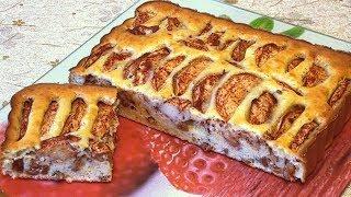 Яблочный пирог с изюмом на сметане. Просто, быстро, вкусно!