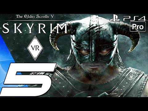 SKYRIM VR - Gameplay Walkthrough Part 5 - Temple of Miraak (PS4 PRO) PSVR