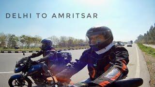DELHI TO AMRITSAR ON 100cc | MEETUP RIDE | DAY 1