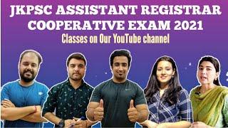 JKPSC ASSISTANT REGISTRAR COOPERATIVE SOCIETY || CLASSES WILL START FROM ? || JK EXAM CRACKER ||