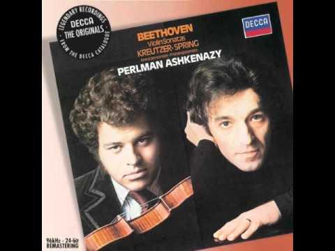 Beethoven violin sonata No 9 Kreutzer Mvt 1 (1/4) Perlman