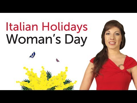 Learn Italian Holidays - Woman's Day - Festa della Donna