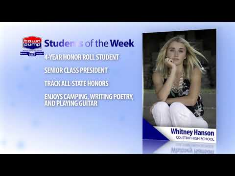 Students of the Week: Whitney Hanson and Bo Vocu of Colstrip High School