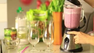 Творожный смузи с бананом и черной смородиной рецепт в домашних условиях