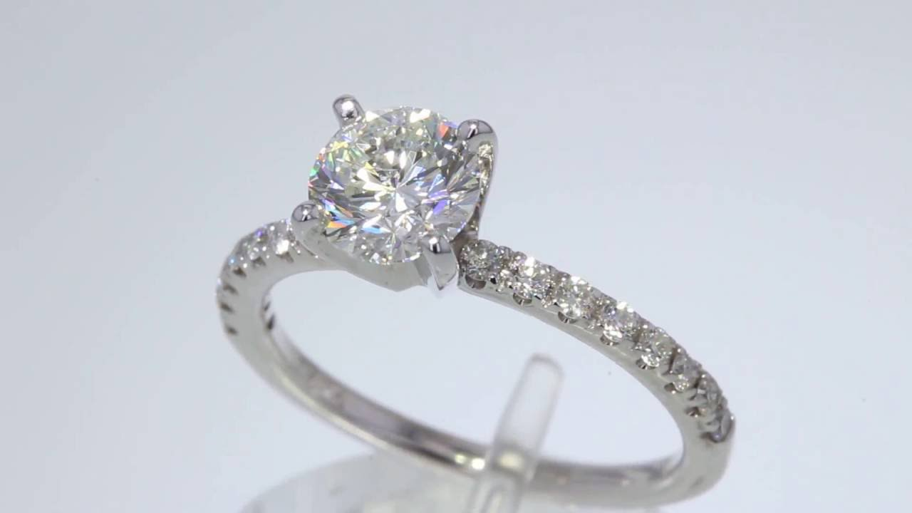 118CT Round Brilliant Leo Diamond Engagement Ring GSI CertAppr 8