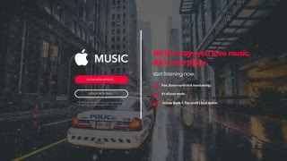 Apple Music / Desktop Login or Register / Unofficial