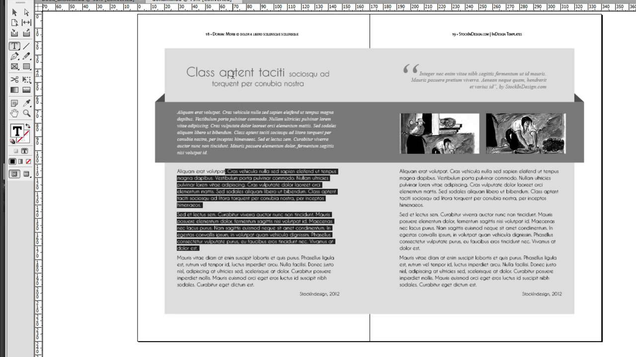 Indesign Book Template Dorian Youtube