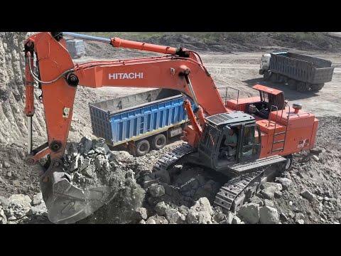 Hitachi Zaxis 670LC Excavator Loading Trucks - Operator Anogiatis
