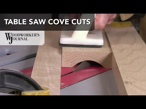 Cove Cutting with a Table Saw | Woodworking