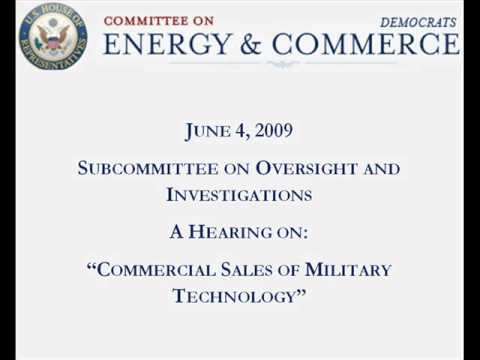 June 4, 2009 - Commercial Sales of Military Technology