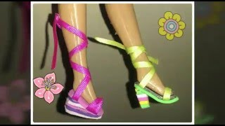 Zapatos de fomi para muñeca Barbie/parte 1/doll shoes