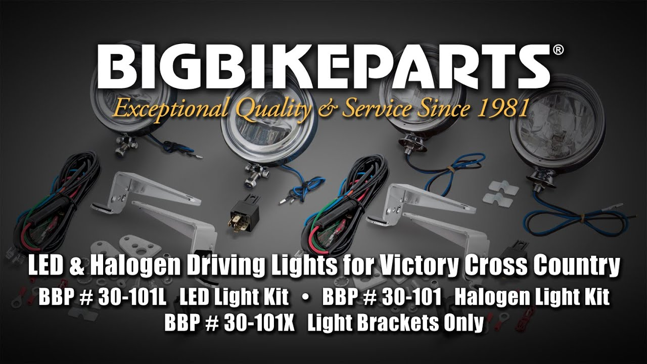LED and Halogen Driving Light Kits for Victory Cross Country Victory Crossroads Wiring Diagram on