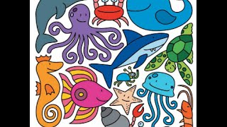 Английские учим животных морских
