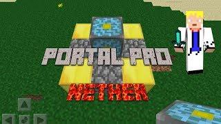 Como fazer portal pro Nether Minecraft PE 8.1