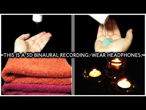ASMR 93. 3D Head Massage (Binaural - Wear Headphones) - SOUNDsculptures - 3D Sound