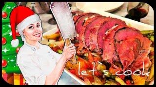✿ LET`S COOK ✿ Фаршированный стейк и рататуй (Новый Год) ♥