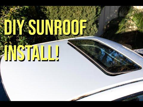 HOW TO INSTALL A SUNROOF! (SUBARU WRX)