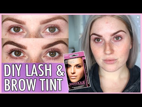 LASH TINT & BROW DYE AT HOME! ⁉️😱 How To DIY