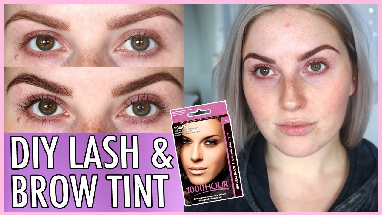 Lash Tint Brow Dye At Home How To Diy Youtube