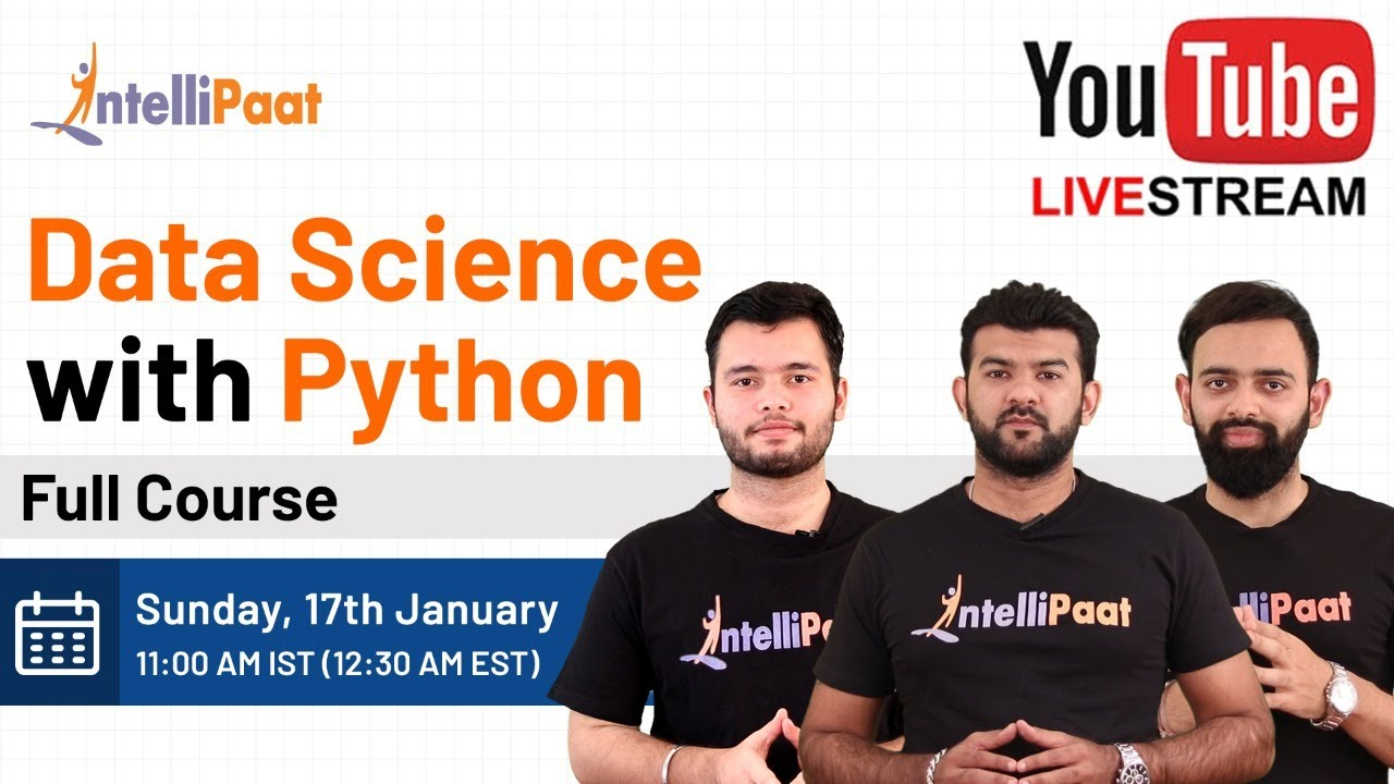 Data Science With Python Training | Python Data Science Course | Intellipaat