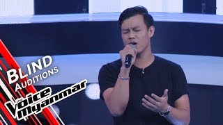 Paul Austin   When We Were Young Adele  Blind Audition   The Voice Myanmar 2019
