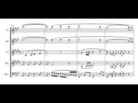 Arie Malando - Olé Guapa: sheet music for wind quintet