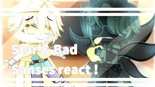 Download lagu 〔 🔭 〕 star & bad sanses react ! part O1 ┊͙✧˖*°