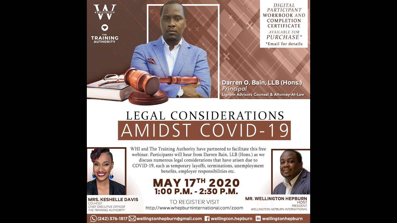 WHI C3 Series - Legal Considerations Amidst COVID-19 (May 17 2020)