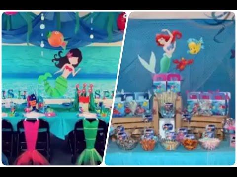 Decoracion De Fiestas Infantiles De La Sirenita Happy Birthday