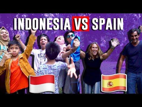 INDONESIA VS  SPANYOL- CHALLENGE & DESPACITO DANCE - Gen Halilintar